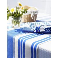 Wholesale Hotels Cotton Table Setting Napkin , Blue And White Stripe Placemat from china suppliers