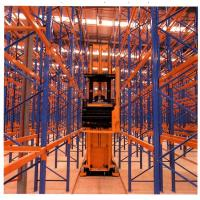 Wholesale Blue / orange forklift movement very narrow aisle racking system , 1800mm to 2200mm from china suppliers