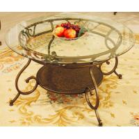 Wholesale Round Top Lounge Contemporary Glass Table With 8mm Tempered Glass from china suppliers
