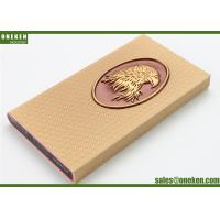 Wholesale Eagle Design Real Leather Power Bank Portable 3000mAh Mobile Phone Chargers from china suppliers