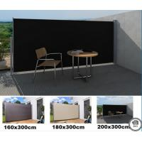Quality Sunshade Outdoor side awning Folding Screen Privacy Divider with Steel Pole for sale