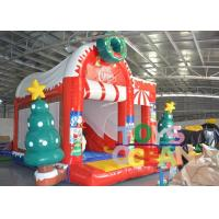 Wholesale Cheap Snowman Christmas jumping Castle Inflatable Christmas bouncers for sale from china suppliers