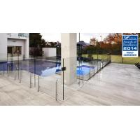 Wholesale Hot sale frameless clear tempered glass fence with stainless steel post from china suppliers