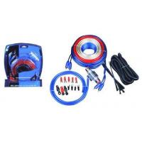 Wholesale 4 GA Blue PVC Car Audio Amplifier Wire  Kit with 60A AGU Gold Fuse Holder and 6meter Red Power Cable from china suppliers