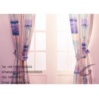 Wholesale 100% Polyester Flower and Stipes Sofa Cover  Fabric / Decorative Panel Curtains from china suppliers