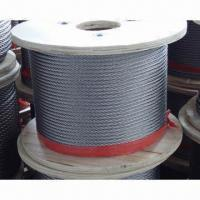 Wholesale Galvanized Steel Wire Rope, Used for Elevator, Crane Lifting, Hanging Basket and Colliery Steel from china suppliers
