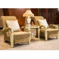 Wholesale Indoor Luxury Hand Carved Wooden Lounge Chair With Gold Leaf Decorative from china suppliers