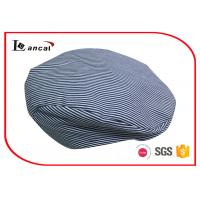 Wholesale Small Stripe Mens Wool Flat Cap With Polyester Lining , Wool Flat Hat from china suppliers