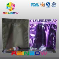 Wholesale Stand Up Plastic Cosmetic Bag , PA / PE Cosmetic Packaging Bag Front Transparent from china suppliers