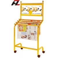 Wholesale Stainless Steel Magazine Rack with Casters - News Paper Rack from china suppliers