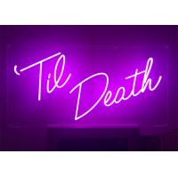 Buy cheap 24 inch Height Custom Made Pink Color LED Lighting Neon Sign for Event from wholesalers