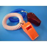 Wholesale Promotional Plastic Whistle in Red Color w/Wrist Coil Band from china suppliers