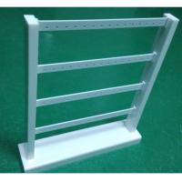 Wholesale Acrylic Earring Display Stand White Jewellery Stand Rack with 4 Tiers for Drop Earring from china suppliers
