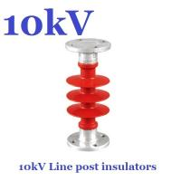 Wholesale ANSI 10 kV / 11 kV Post Insulator Creepage Distance 380mm For Substation from china suppliers