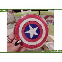 Wholesale QI 2A Fast Charge Wireless Charger Captain America Design For Iphone Samsung from china suppliers