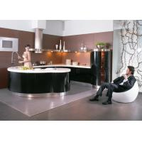 Wholesale Transitional Black Lacquer Kitchen Cabinets , Waterproof  Villa Kitchen Cabinets from china suppliers