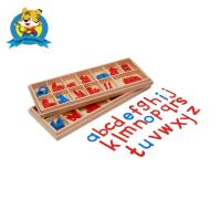 Wholesale Wooden educational professional Montessori Materials Large Movable Alphabet (Red & Blue) for kids from china suppliers