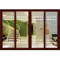 Buy cheap 1.4mm profile thickness white, red wood aluminum sliding glass doors for residential from wholesalers