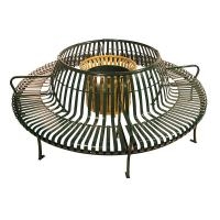 Wholesale Custom Made Metal Home Furniture Circular Outdoor Bench With Back from china suppliers
