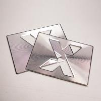 Quality 0.8 MM Sheet Metal Stamping Parts CD Line Bevel Edge Polished For Decoration for sale