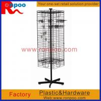 Wholesale Wire Store Display Racks,Counter Top Spinner Display Rack,Rotating Display Rack with Pegs,Grocery Food Rack from china suppliers