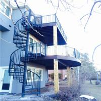 Buy cheap Chinese wrought iron spiral stairs , outdoor spiral staircase prices , used spiral staircase from wholesalers