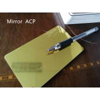 Wholesale Gold Mirror Aluminum Composite Panel Thickness 4mm For Room Decoration from china suppliers