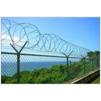 Buy cheap Chain Link Fencing Top With Barbed Wire or Razor Wire In High Security from wholesalers