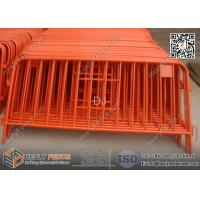 Wholesale 1.1m high Pedestrian Crowd  Barrier Fencing   O.D32mm pipe frame   O.D19mm vertical tube from china suppliers