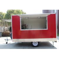 Wholesale Red Color Round Shaped Fast Food Catering Trailer Van With CE Certificates from china suppliers