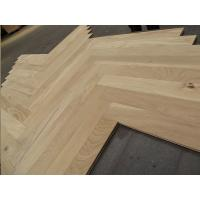 Buy cheap white oak herringbone/fishbone wood flooring--unfinished, ABCD grade,french oak, fishbone flooring from wholesalers