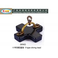 Wholesale Lead diving weights with brass handle and swivel 5 / 10 / 20KG from china suppliers