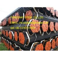 Quality black ERW steel pipe for water, gas, oil for sale