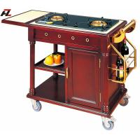 Wholesale Restaurant Double Gas Stoves Cooking Trolley with SS Wine Rack from china suppliers