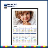Wholesale Custom printed wall calendars with 250gsm hard cardboard paper , glossy film lamination from china suppliers
