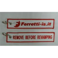 Quality Remove Before Revamping Ferretti-is.it Pilot Avation Fabric Embroidery Keychain Key Tag for sale