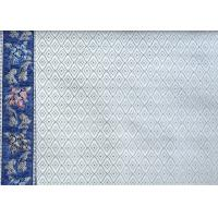 Quality Blue Flower Design Embroidered Curtain Fabric For Hometextile for sale