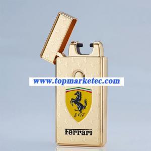 Quality Car logo lighter USB ARC Pulse Charge Lighters flameless lighter for sale