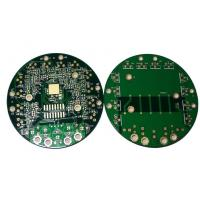 Wholesale Round FR4 Single / Double Sided Rigid PCB Board with Edge Half Plated Thru Hole from china suppliers