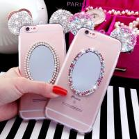 Wholesale Crystal Bling Cell Phones Covers Cases With  Mirror Mickey Ear IPhone 7 / Plus from china suppliers