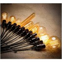 Wholesale Lamp Bases 110-220V E27 E26 Screw Edison Lamp Light Bulb holder 100cm cable For 40W/60W Retro Incandescent Vintage from china suppliers