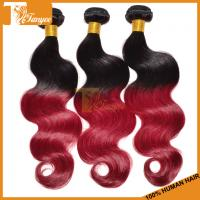 Wholesale 18inch 5A Ombre Hair Two Tone 1b/burg Brazilian Body Wave Human Hair Extension from china suppliers