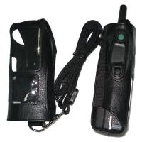 Wholesale Portable Black Walkie Talkie Holster / Anti Dust Leather Intercom from china suppliers