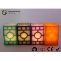 Wholesale Home decoration  Real Wax LED candles  , Square Carved Electronic Candles from china suppliers