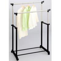 Wholesale Commercial Rolling Double Pole Clothes Rack / Dual Antique Household Laundry Airer Stand from china suppliers