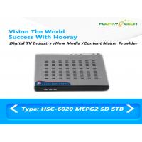 Wholesale Black SD DVB C Set Top Box Mpeg2 Steel Case Audio Video interface IR remote from china suppliers