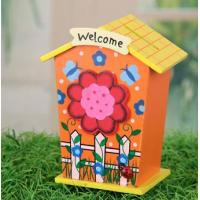 Wholesale promotion wooden money box for children,flower print from china suppliers
