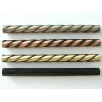Wholesale 3 lines Steel twist tubes twist pipes stair railing post  stair baluster from china suppliers