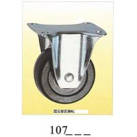 Wholesale Black rubber small caster rigid 107 from china suppliers