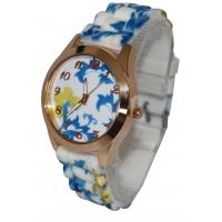 Wholesale Water Transfer Printing Womens Quartz Watches with Silicone Tree Bead Strap from china suppliers